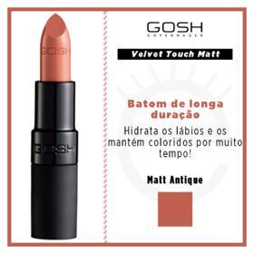 Batom Gosh Copenhagen - Velvet Touch Lipstick Matt - Matt Antique