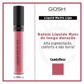 Batom Líquido Gosh Copenhagen - Liquid Matte Lips - Candyfloss