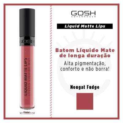 Imagem 4 do produto Batom Líquido Gosh Copenhagen - Liquid Matte Lips - Nougat Fudge