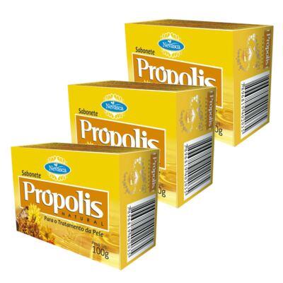Imagem 1 do produto Kit Sabonete Nevasca Natural Própolis 100g 3 Unidades