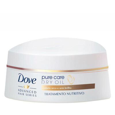 Imagem 3 do produto Kit Dove Pure Care Dry Oil Shampoo 200ml + Creme de Tratamento Capilar 350g