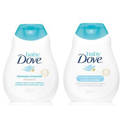 Imagem 1 do produto Kit Dove Baby Hidratação Enriquecida Shampoo 200ml + Condicionador 200ml