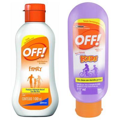Imagem 1 do produto Repelente Off Kids 117ml + Repelente Off Family Loção 100ml