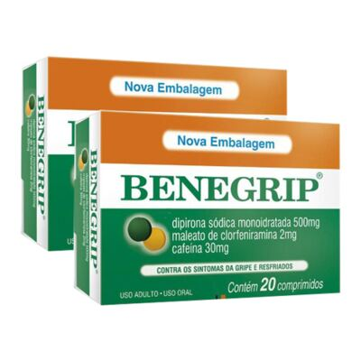 Imagem 1 do produto Kit Benegrip 20 Comprimidos 2 Caixas