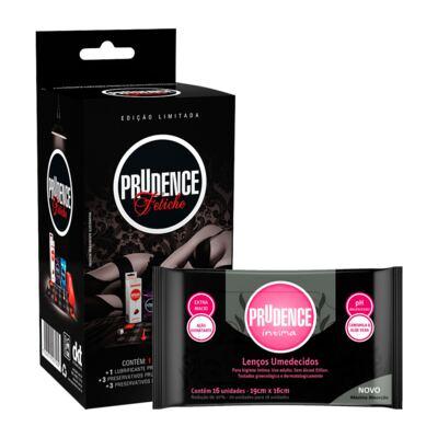 Imagem 1 do produto Kit Fetiche Prudence Preservativo + Gel Lubrificante + Jogo Proibido + Lenço Umedecido 16 Unidades