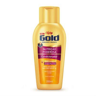 Imagem 3 do produto Kit Niely Gold Nutrição Poderosa Shampoo Sem Sal 300ml + Condicionador 200ml