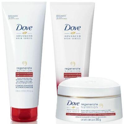 Imagem 1 do produto Kit Dove Regenerate Nutrition Shampoo + Condicionador + Creme