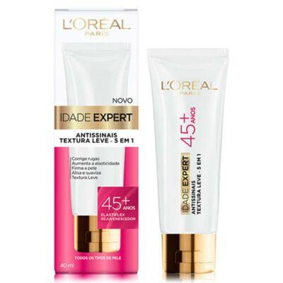Imagem 2 do produto Kit L'Oréal Creme Antissinais Idade Expert 45+ 40ml + Lenço de Limpeza Micelar 25 Unidades