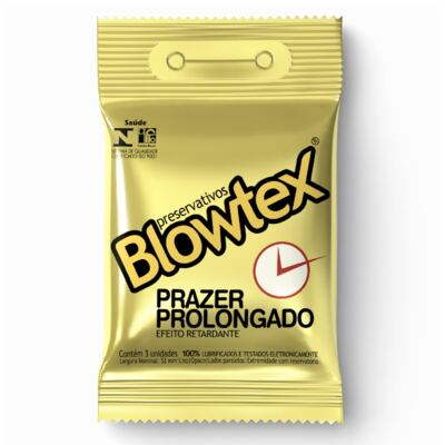 Imagem 1 do produto Preservativo Blowtex Prazer Prolongado 3 Unidades