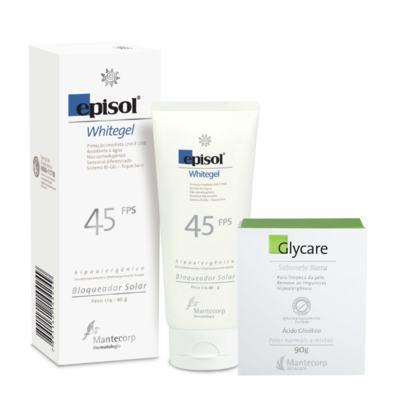 Imagem 1 do produto Kit Protetor Episol Whitgel Fps45 60gr + Sabonete em Barra Glycare 90g