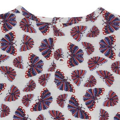 Imagem 4 do produto Blusinha c/ Shorts frufru para bebe em viscolycra Butterflies - Baby Classic - 21001628 BLUSINHA M/C COM SHORTS VISCOLYCRA BUTTERFLY-2