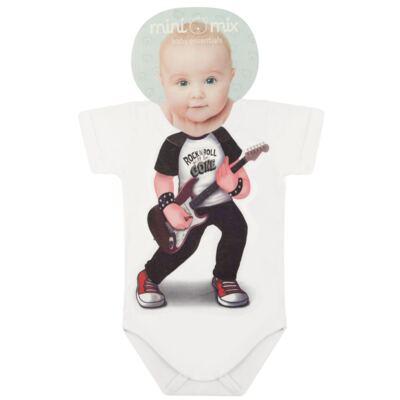 Imagem 1 do produto Body curto para bebe em malha Mini Rock Star - Mini Mix - MXBSM1610 BODY CURTO EM MALHA MINI ROCK STAR-3