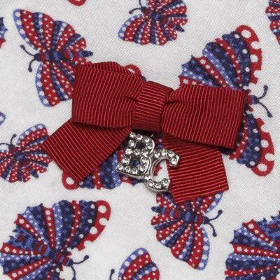 Imagem 3 do produto Blusinha c/ Shorts frufru para bebe em viscolycra Butterflies - Baby Classic - 21001628 BLUSINHA M/C COM SHORTS VISCOLYCRA BUTTERFLY-M