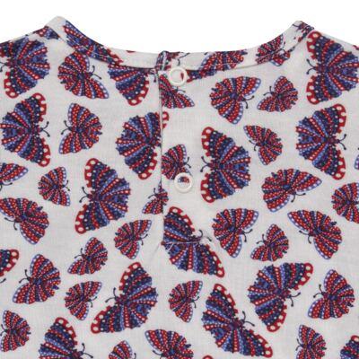 Imagem 4 do produto Blusinha c/ Shorts frufru para bebe em viscolycra Butterflies - Baby Classic - 21001628 BLUSINHA M/C COM SHORTS VISCOLYCRA BUTTERFLY-M