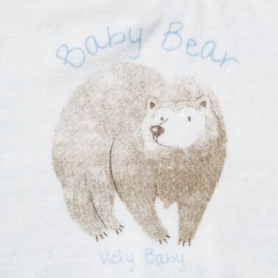 Imagem 3 do produto Blusão com Calça para bebe em plush Forest Bear - Vicky Baby - 1797-4250 CJ BLUSÃO URSO FOREST -2