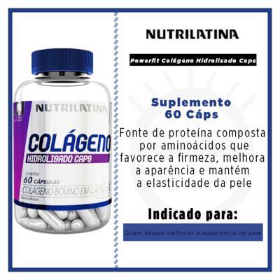Imagem 2 do produto Powerfit Colágeno Hidrolisado Caps Nutrilatina - Suplemento - 60 Cáps