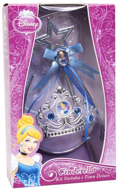 Imagem 1 do produto Acessórios Princesas Cinderella - Coroa e Varinha Deluxe - BR639
