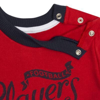 Imagem 4 do produto Blusão com Calça para bebe em moletom Football - Mini Mix - LTCM09 CONJUNTO MOLETOM FOOTBALL VERMELHO/MARINHO-M