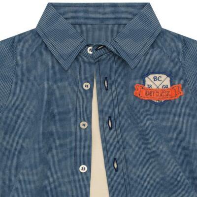 Imagem 2 do produto Body Camisa para bebe em tricoline Camouflage - Baby Classic - 092953 CAMISA BODY TRICOLINE LONDON -P