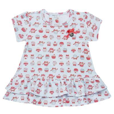 Imagem 2 do produto Bata com Legging para bebe em suedine Cupcakes - Vicky Baby - 1964-704 CJ BATA CORS. CUPCAKE INF SUEDINE-G