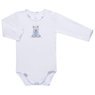 Imagem 2 do produto Body longo c/ Calça para bebe em algodão Ursinho - Dedeka - DDK17647/E176 CONJUNTO DE BODY RIBANA URSINHO-RN