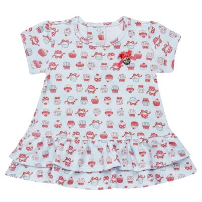 Imagem 2 do produto Bata com Legging para bebe em suedine Cupcakes - Vicky Baby - 1964-704 CJ BATA CORS. CUPCAKE INF SUEDINE-1