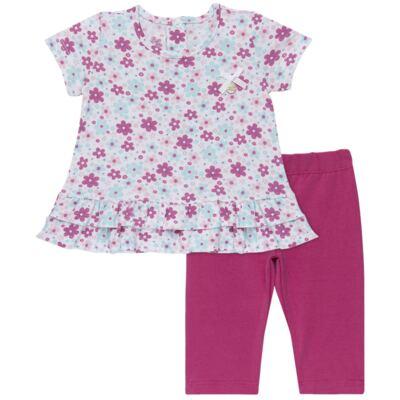 Imagem 1 do produto Bata com Legging para bebe em cotton Little Cute - Vicky Lipe - 8341362 CONJ. BATA COM LEGGING COTTON ELEFANTINHO-GG