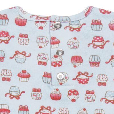 Imagem 3 do produto Bata com Legging para bebe em suedine Cupcakes - Vicky Baby - 1964-704 CJ BATA CORS. CUPCAKE INF SUEDINE-M