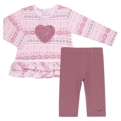 Imagem 1 do produto Bata com Legging para bebe em cotton Ethnic - Baby Classic - 18210002.20 BLUSA C/ LEGGING-MALHA/COTTON-1
