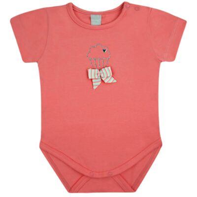 Imagem 1 do produto Body curto para bebe em cotton Strawberry - Vicky Lipe - 89845 BODY MC FEMININO COTTON COELHA-GG