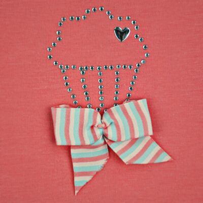 Imagem 3 do produto Body curto para bebe em cotton Strawberry - Vicky Lipe - 89845 BODY MC FEMININO COTTON COELHA-G