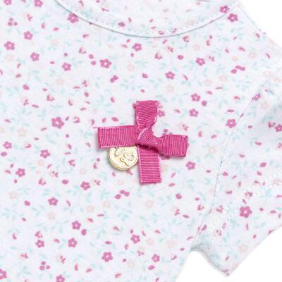 Imagem 3 do produto Bata com Legging para bebe em cotton Aqua Flower - Vicky Lipe - 8341363 CONJ. BATA COM LEGGING COTTON ELEFANTINHO 2-1