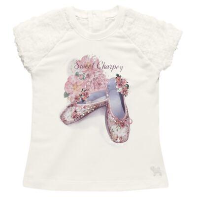 Imagem 2 do produto Blusa com Legging para bebe em cotton Ballerina Camelli - Charpey - CY14729.138 CONJ. BLUSA C/ LEGGING OFF WHITE -P