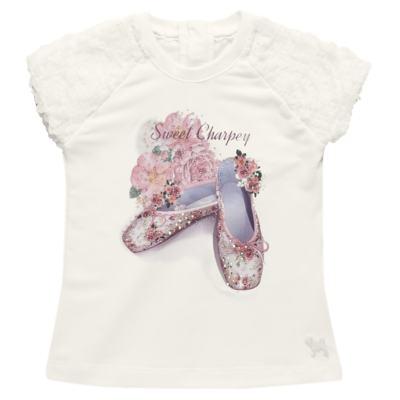 Imagem 2 do produto Blusa com Legging para bebe em cotton Ballerina Camelli - Charpey - CY14729.138 CONJ. BLUSA C/ LEGGING OFF WHITE -M