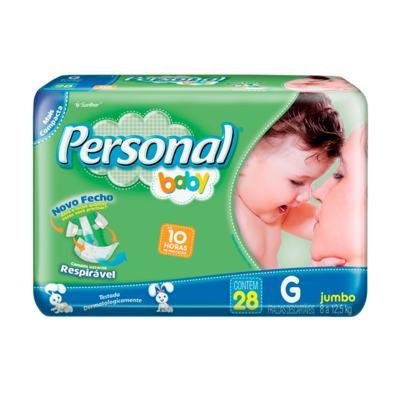 Imagem 1 do produto Fralda Descartável Personal Baby Jumbo G 28 Unidades