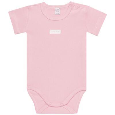 Imagem 2 do produto Body curto com Shorts para bebe em suedine Rosa - Vicky Lipe - CSH1376 CONJ. BODY M/C C/ SHORTS SUEDINE ROSA BB-P