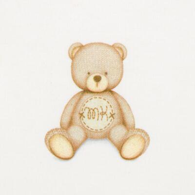 Imagem 3 do produto Body longo c/ Calça (mijão) para bebe  em suedine Naturé - Baby Classic - BC51.200 CONJ. BODY ML COM MIJAO SUEDINE URSINHOS-RN