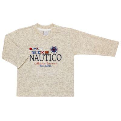 Imagem 2 do produto Blusão com Calça para bebe em plush Náutico - Baby Classic - 875832.219 CONJ. BLUSA C/ CALÇA PLUSH MESCLA-1