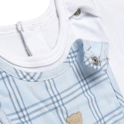 Imagem 3 do produto Body c/ Babador e Mijão em suedine Le Petit Azul Baby Classic - 18010001.03 CONJUNTO BODY C/ BABADOR E MIJÃO-SUEDINE-G