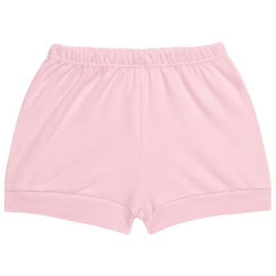 Imagem 4 do produto Body curto com Shorts para bebe em suedine Rosa - Vicky Lipe - CSH1376 CONJ. BODY M/C C/ SHORTS SUEDINE ROSA BB-3