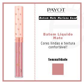 Batom Líquido Mate Payot - Coleção Mariana Saad - Sensualidade
