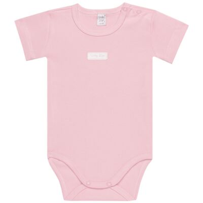 Imagem 2 do produto Body curto com Shorts para bebe em suedine Rosa - Vicky Lipe - CSH1376 CONJ. BODY M/C C/ SHORTS SUEDINE ROSA BB-GG