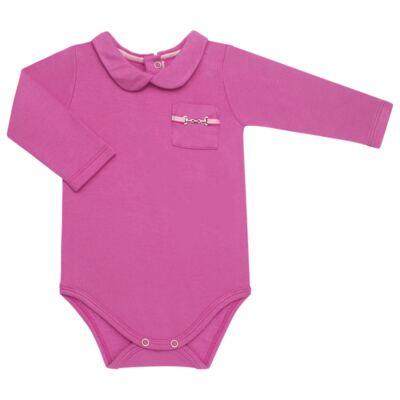 Imagem 2 do produto Body longo com Calça para bebe em viscomfort Pink - Baby Classic - 19051271 BODY C/ GOLA E CALÇA VISCOMFORT GARDEN-GG