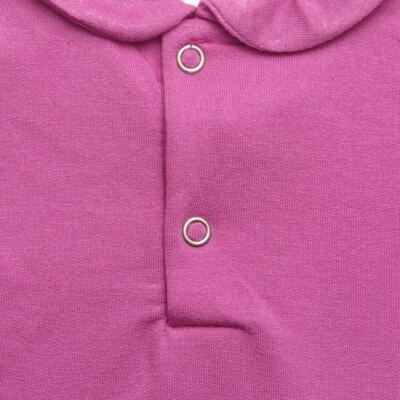 Imagem 4 do produto Body longo com Calça para bebe em viscomfort Pink - Baby Classic - 19051271 BODY C/ GOLA E CALÇA VISCOMFORT GARDEN-GG