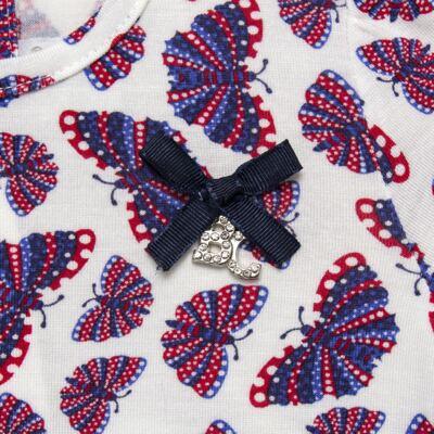 Imagem 4 do produto Bata c/ Legging para bebe em viscolycra Butterflies - Baby Classic - 22111628 BATA MC COM LEGGING VISCOLYCRA BUTTERFLY-M