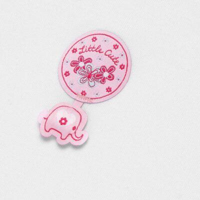 Imagem 3 do produto Body longo com Calça (mijão) para bebe em suedine Little Cute - Vicky Lipe - CEL1362 CJ. BODY ML C MIJÃO SUEDINE ELEFANTINHO-P