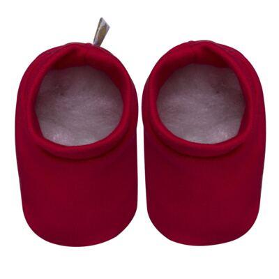 Imagem 3 do produto Kit c/ Touca, Luva e Sapatinho para bebe em malha Vermelho - Beth Bebê - BB0177-C Kit Sapatinho, Touca e Luva Vermelho