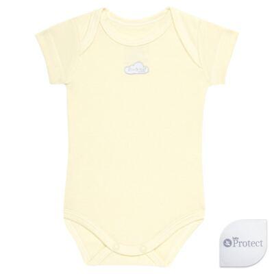 Imagem 1 do produto Body curto para bebe em suedine Baby Protect Amarelo - Mini & Kids - BDTC1736 BODY M/C TRANSP. SUEDINE AMARELO-RN