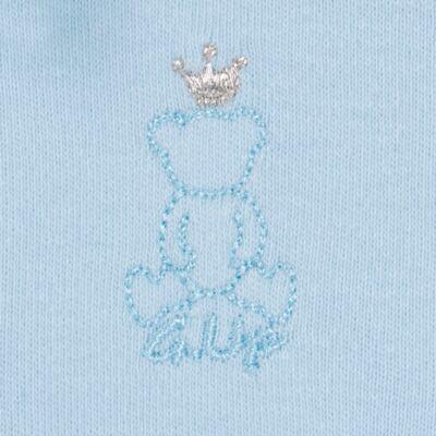 Imagem 4 do produto Body longo com Calça (mijão) em suedine Azul Matelassê - Grow Up - 01020218.0003 CONJ. PG BEAR FRIEND AZUL-P
