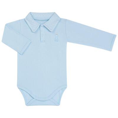 Imagem 2 do produto Body longo com Calça (mijão) em suedine Azul Matelassê - Grow Up - 01020218.0003 CONJ. PG BEAR FRIEND AZUL-M